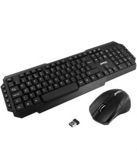 JEDEL 2.4Ghz USB Wireless Keyboard And Mouse Combo Set For PC Laptop Smart TV UK