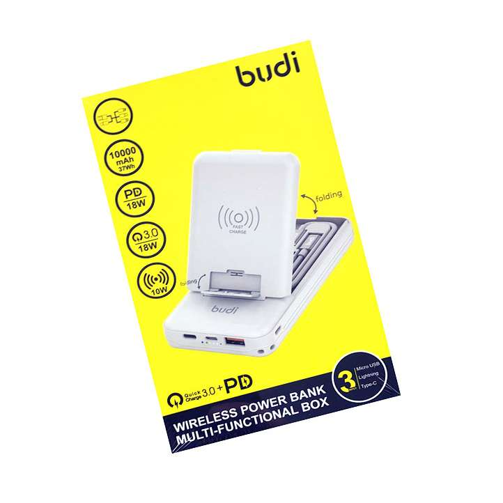 BUDI MULTI FUNCTION BOX WITH WIRELESS CHARGER SMART ADAPTER