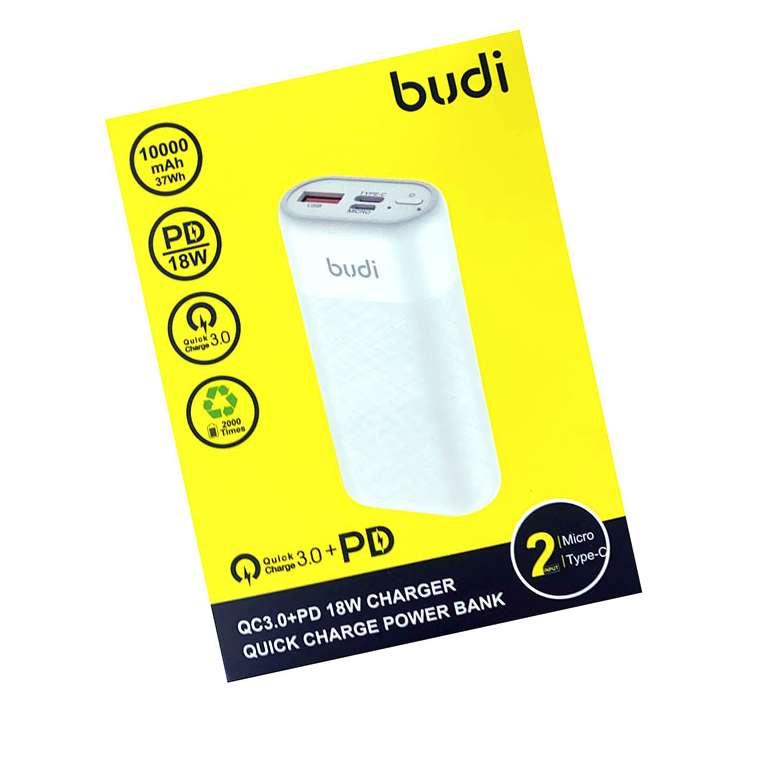 BUDI QUICK CHARGE QC 3.0 + PD 18W 10000mAh POWER BANK